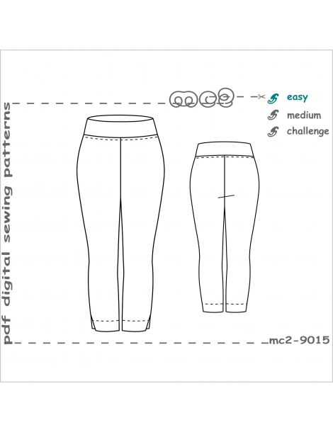 mc2-9015 Slim-fit Pull-on Stretchy Crpd Pants