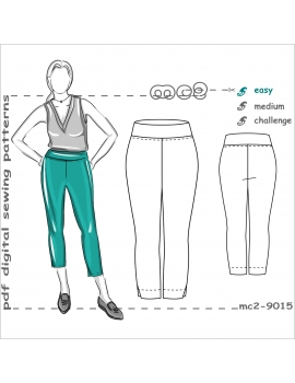 Slim-fit Pull-on Stretchy Cropped Pants