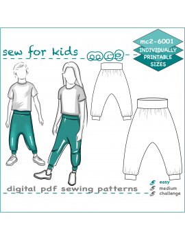 Harem-style Pants for Kids Boys Girls
