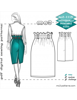 Easy-to-Make Pencil Skirt with Back Vent