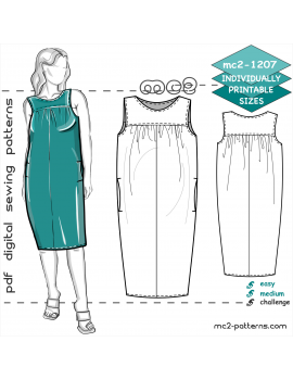 Maternity Dress with Yokes & In-seam Pockets