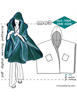 Poncho-Wrap with Hood