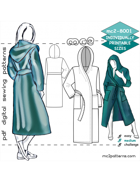 mc2-8001 Robe with Hood & Pockets