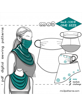 Face-Covering Scarf with Filter Pocket