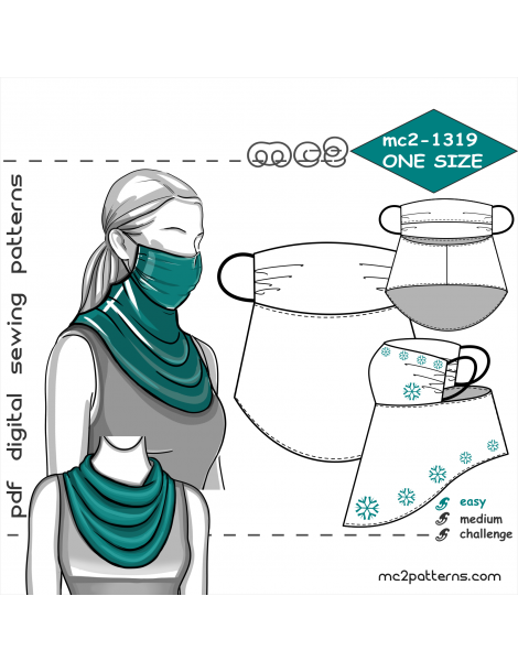 mc2-1319 Face-Covering Scarf