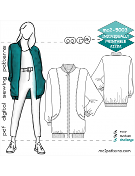Hip-length Bomber Jacket