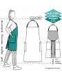 mc2-1320 Chef/Barista Apron with Halter-neck & Back Pockets