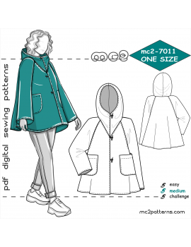 mc2-7011 Coat-Cape with Hood