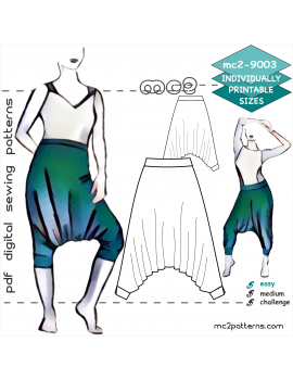 Jersey Harem-style Pants for Yoga