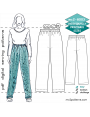 mc2-8003 Pyjama Pants with Side Seams