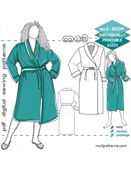 mc2-8004 Robe with Shawl Collar & In-seam Pockets