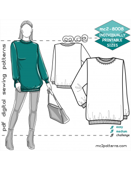 mc2-8008 Sweatshirt/ Jersey Pyjama Top