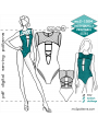 mc2-1504 1-pc Swimsuit with C-out Front & O-Back