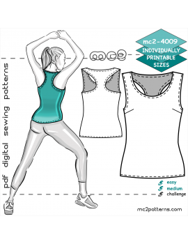 Easy-to-Make Jersey Racer-back Tank Top