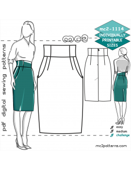 High-waisted Pencil Skirt with Back Vent