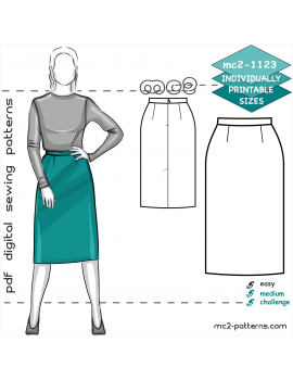 Classic Pencil Skirt with Back Vent