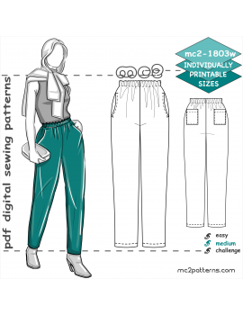 Pull-on Pants/ Scrubs with Four Pockets for women