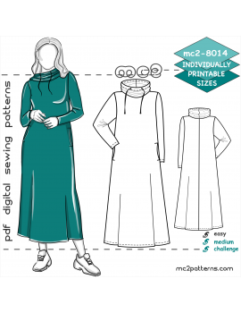 Maxi Lounging Dress with Cowl-neck & In-seam Pockets