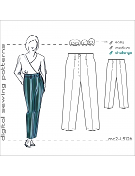mc2-L5126 Trousers.Classic.Highwaisted.Built-on-Wbd