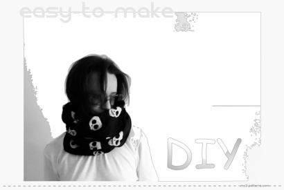 DIY - An Easy-to-make Fabric Snood.
