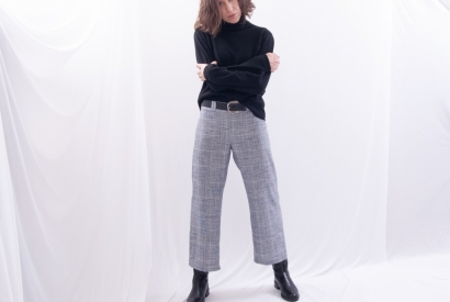 Culottes with Side Pockets, No-Waistband & Back-Zip