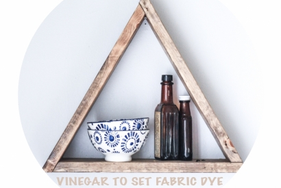VINEGAR TO SET FABRIC DYE