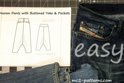 Ready-Made Yoke off an Old Jeans