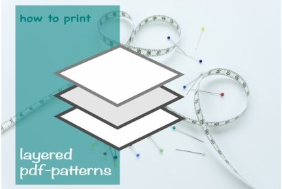 How to Print a Layered PDF Sewing Pattern at Home